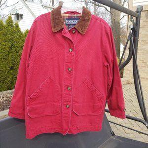 Lands' End Red Barn Coat Corduroy CUffs Medium